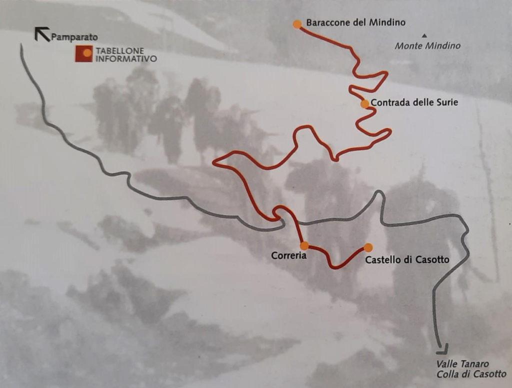 Itinerari partigiani val Casotto Baraccone