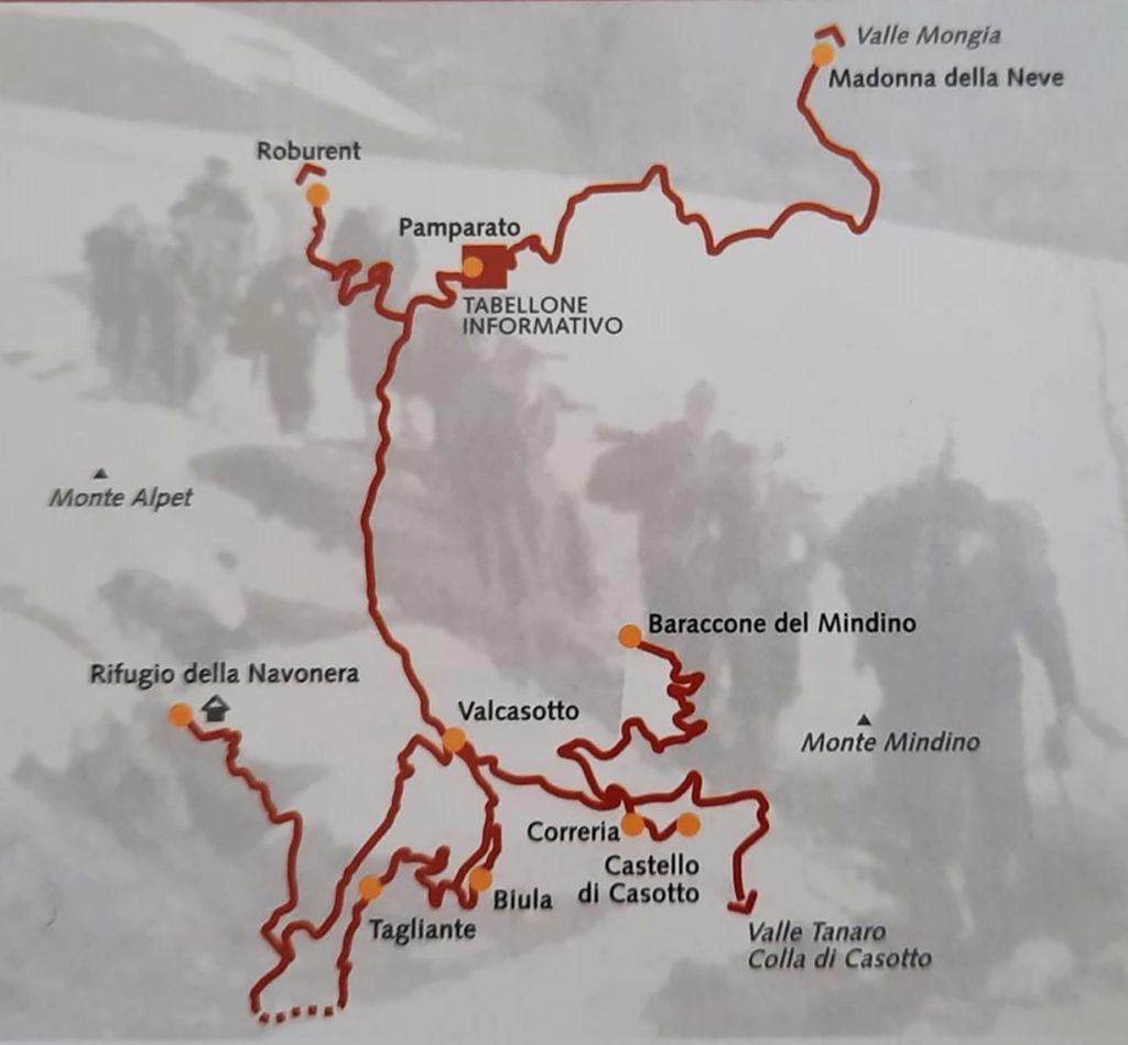 Itinerari partigiani val Casotto Tagliante